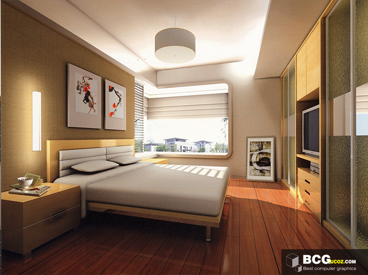 Bedroom Interior 3dmax Scenes 61 Free